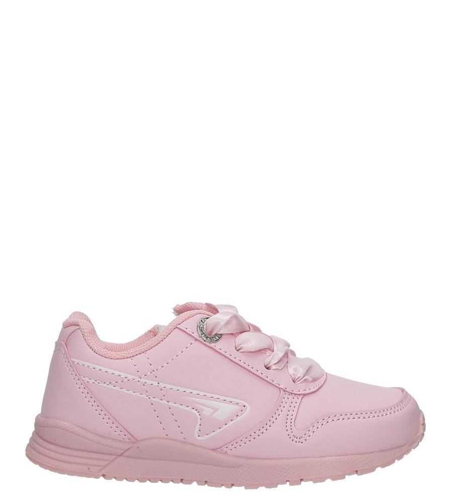 Różowe półbuty sportowe wiązane wstążką Casu 3XC7538 jasny różowy
