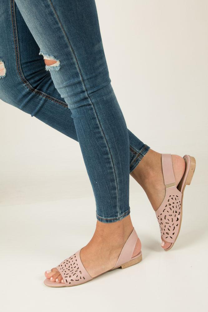Różowe sandały ażurowe Casu 1983/L różowy