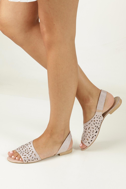 Różowe sandały ażurowe Casu 1983/L