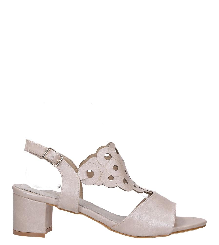 Różowe sandały ażurowe na niskim obcasie ze skórzaną wkładką Casu K19X3/P wysokosc_obcasa 5 cm