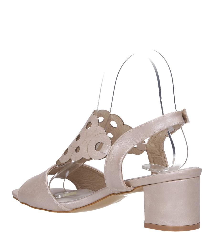 Różowe sandały ażurowe na niskim obcasie ze skórzaną wkładką Casu K19X3/P wysokosc_platformy 0.5 cm