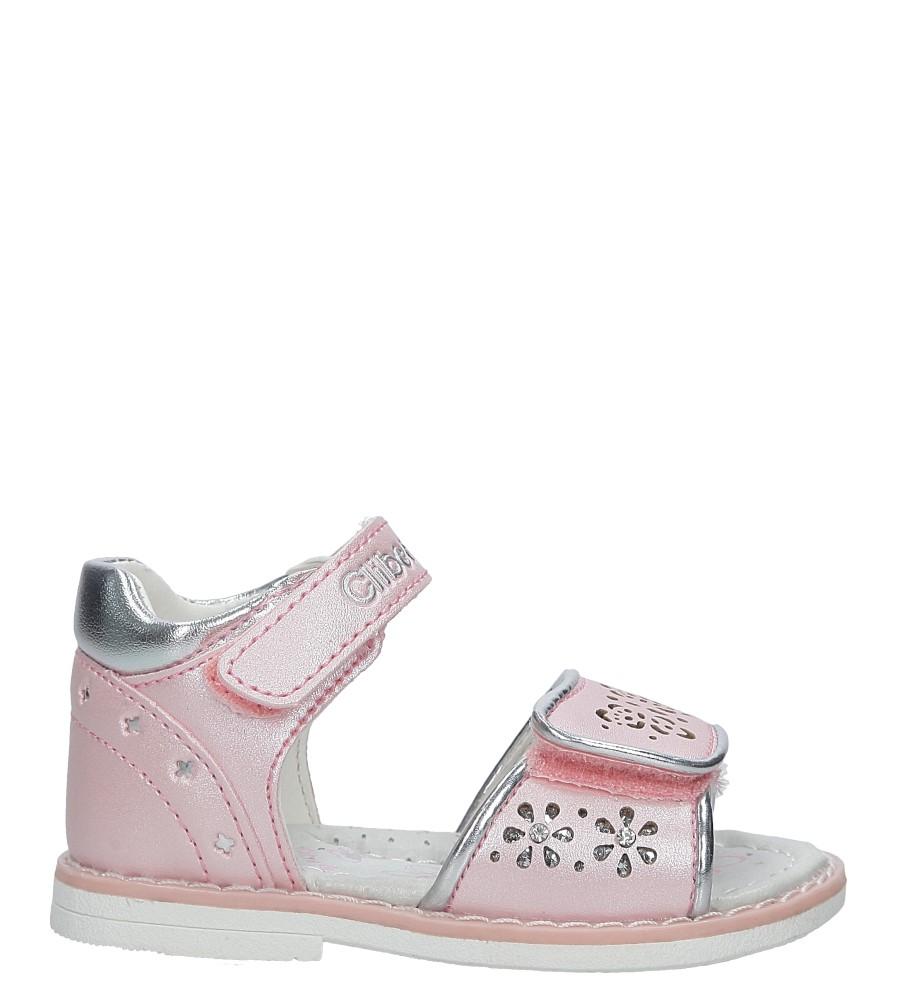 Różowe sandały ażurowe z kryształkami na rzep Casu F-212 różowy