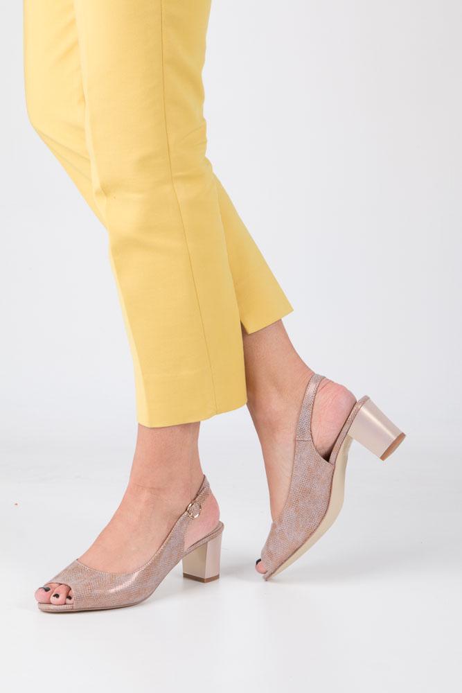 Różowe sandały błyszczące na słupku Sergio Leone SK810-14S