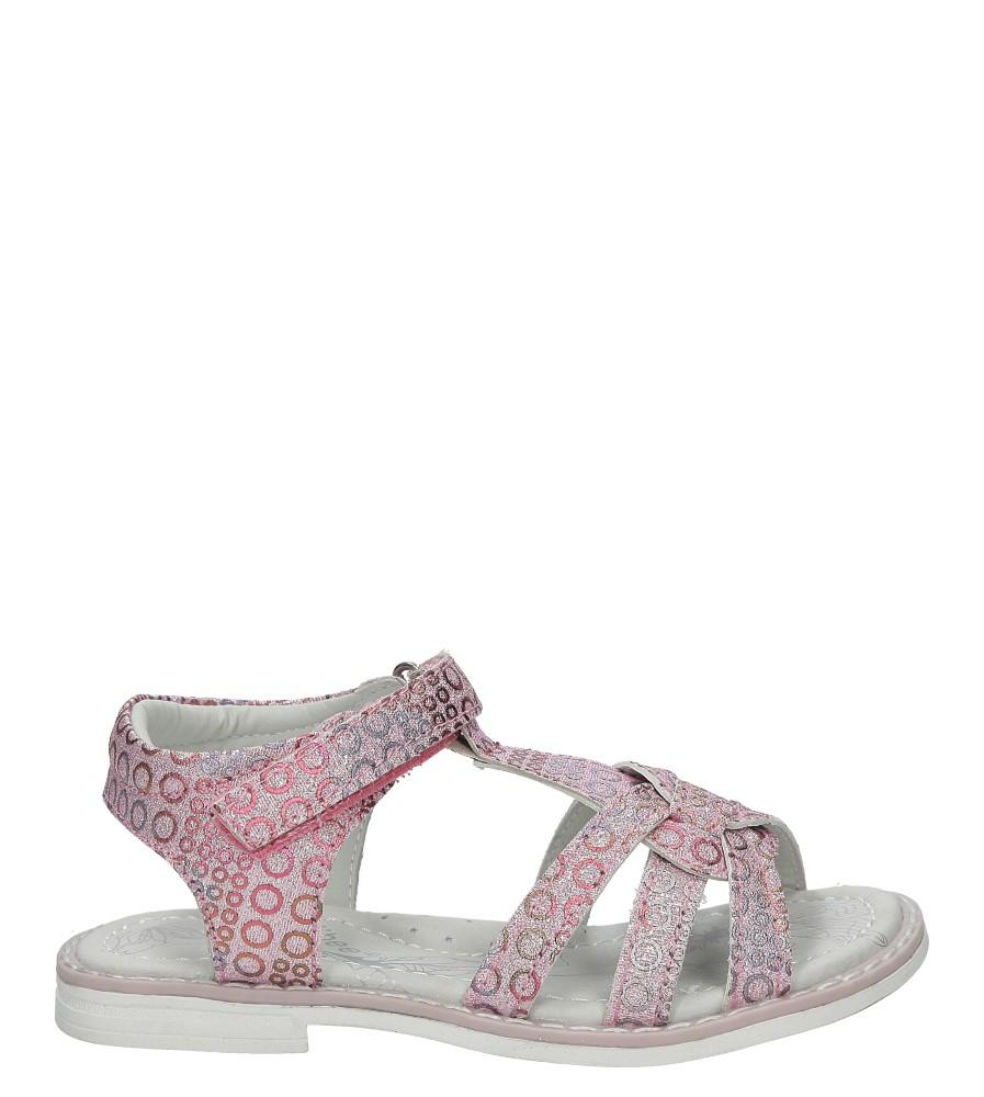 Różowe sandały brokatowe na rzep Casu Z-306