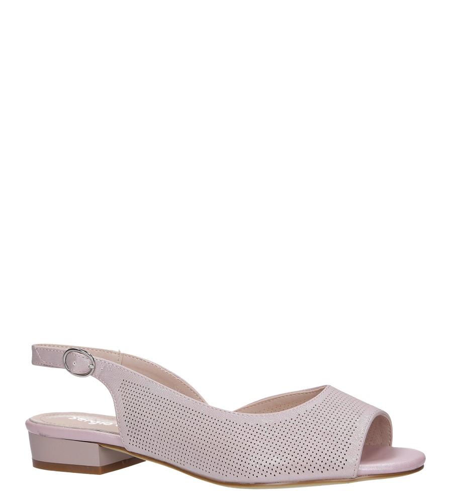 Różowe sandały na niskim obcasie Sergio Leone SK809 różowy
