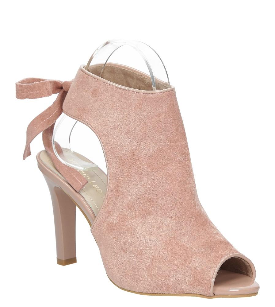 Różowe sandały na obcasie z kokardą Sergio Leone 1493 producent Sergio Leone