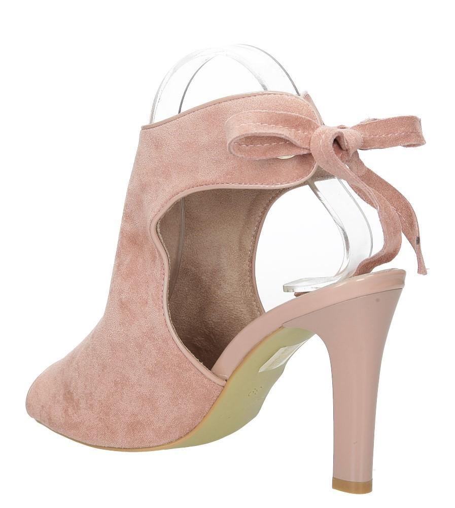 Różowe sandały na obcasie z kokardą Sergio Leone 1493 wysokosc_obcasa 10.5 cm