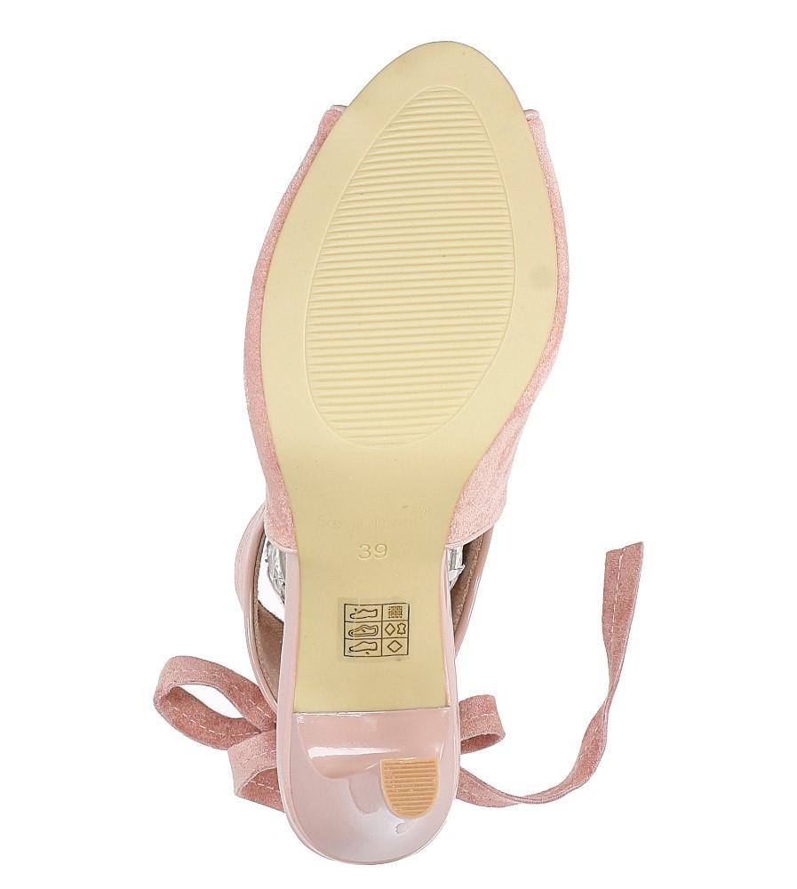 Różowe sandały na obcasie z kokardą Sergio Leone 1493 wys_calkowita_buta 18.5 cm