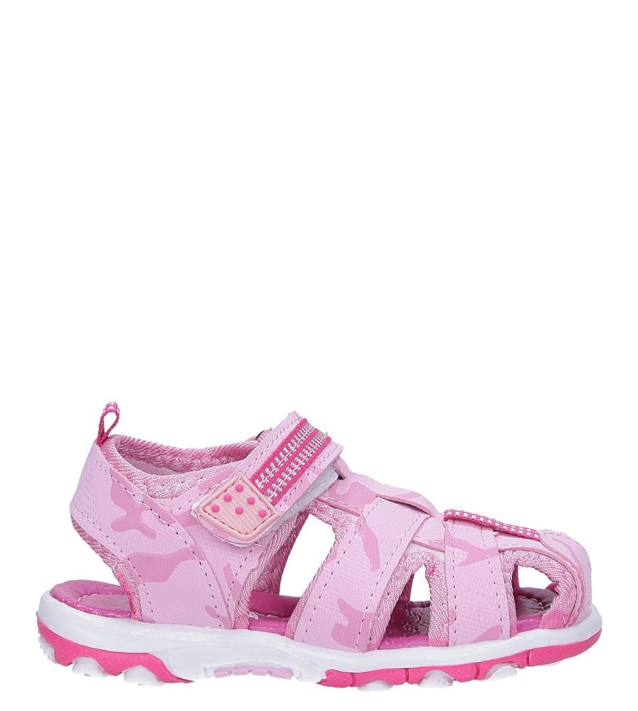 Różowe sandały na rzep Casu JF15 jasny różowy