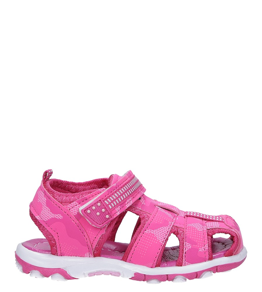 Różowe sandały na rzep Casu JF15