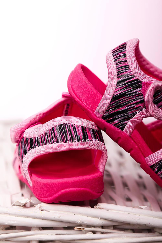 Różowe sandały na rzep Casu LA108 różowy