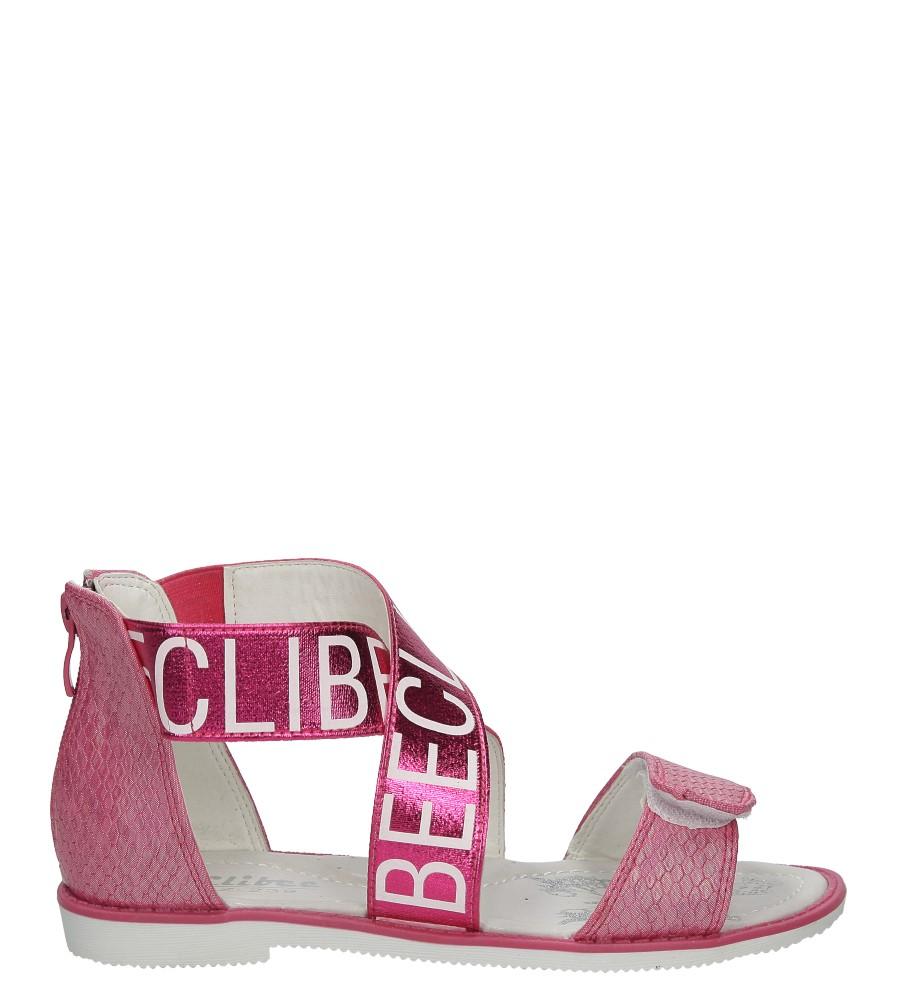 Różowe sandały na rzep Casu Z-239