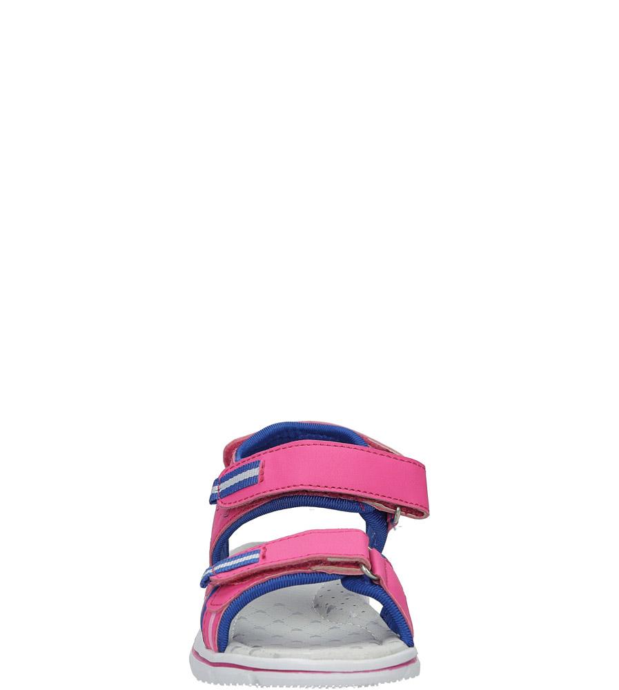 Różowe sandały na rzep Casu Z-322 sezon Lato