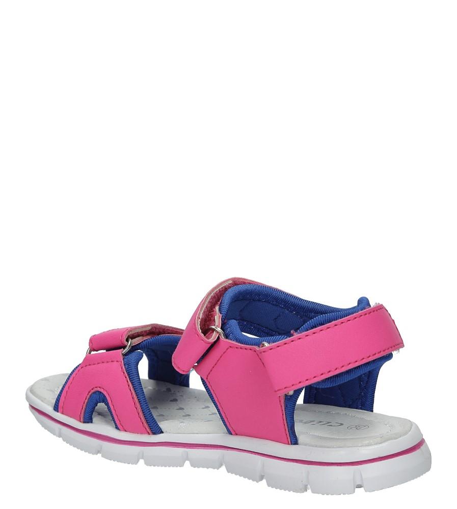 Różowe sandały na rzep Casu Z-322 kolor niebieski, różowy