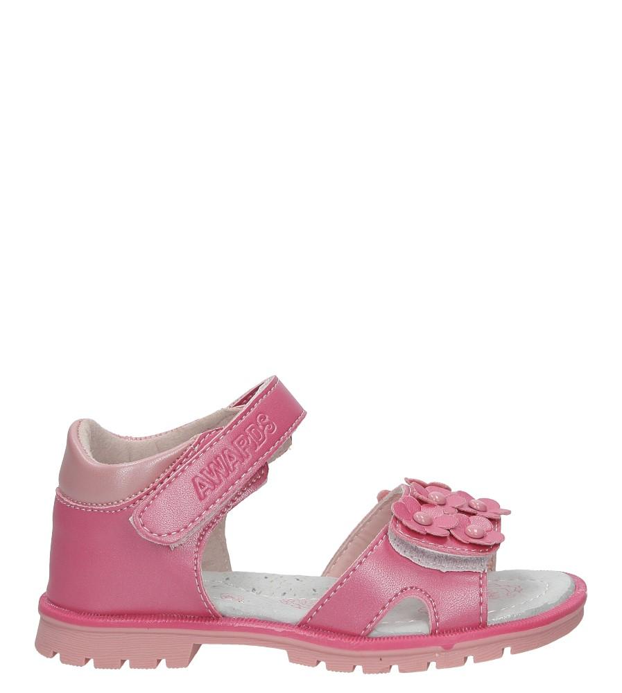 Różowe sandały na rzep z kwiatkami Casu B858 różowy
