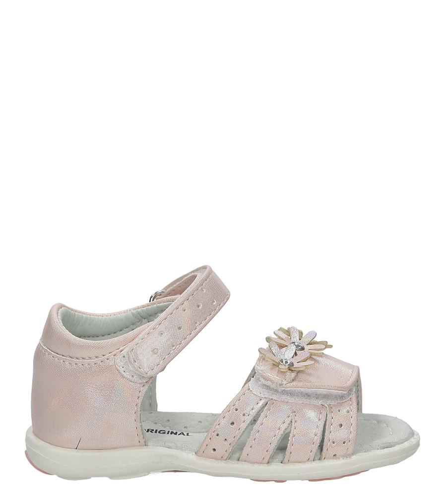 Różowe sandały na rzep z kwiatkiem Casu 1S-DY86234M