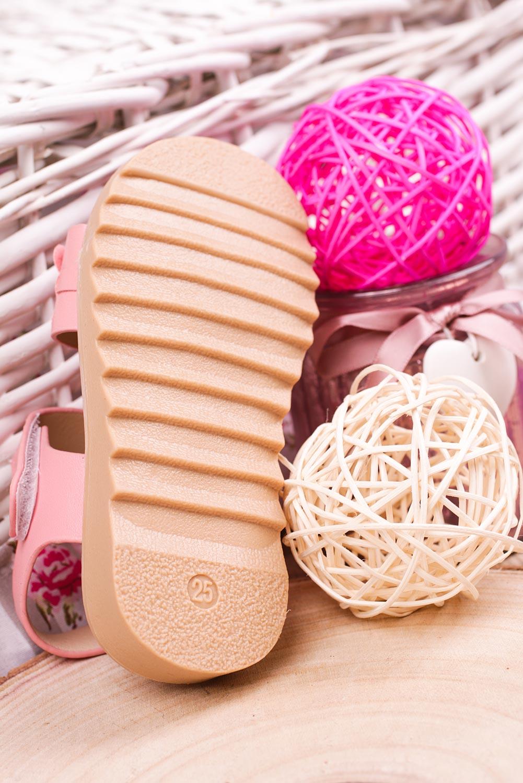 Różowe sandały na rzep z ozdobami Casu HY-13 wysokosc_obcasa 2 cm