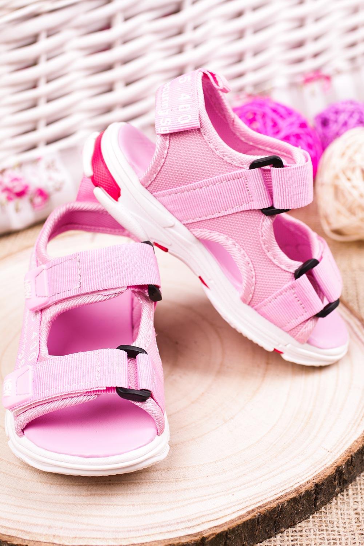 Różowe sandały na rzepy Casu 123B producent Casu