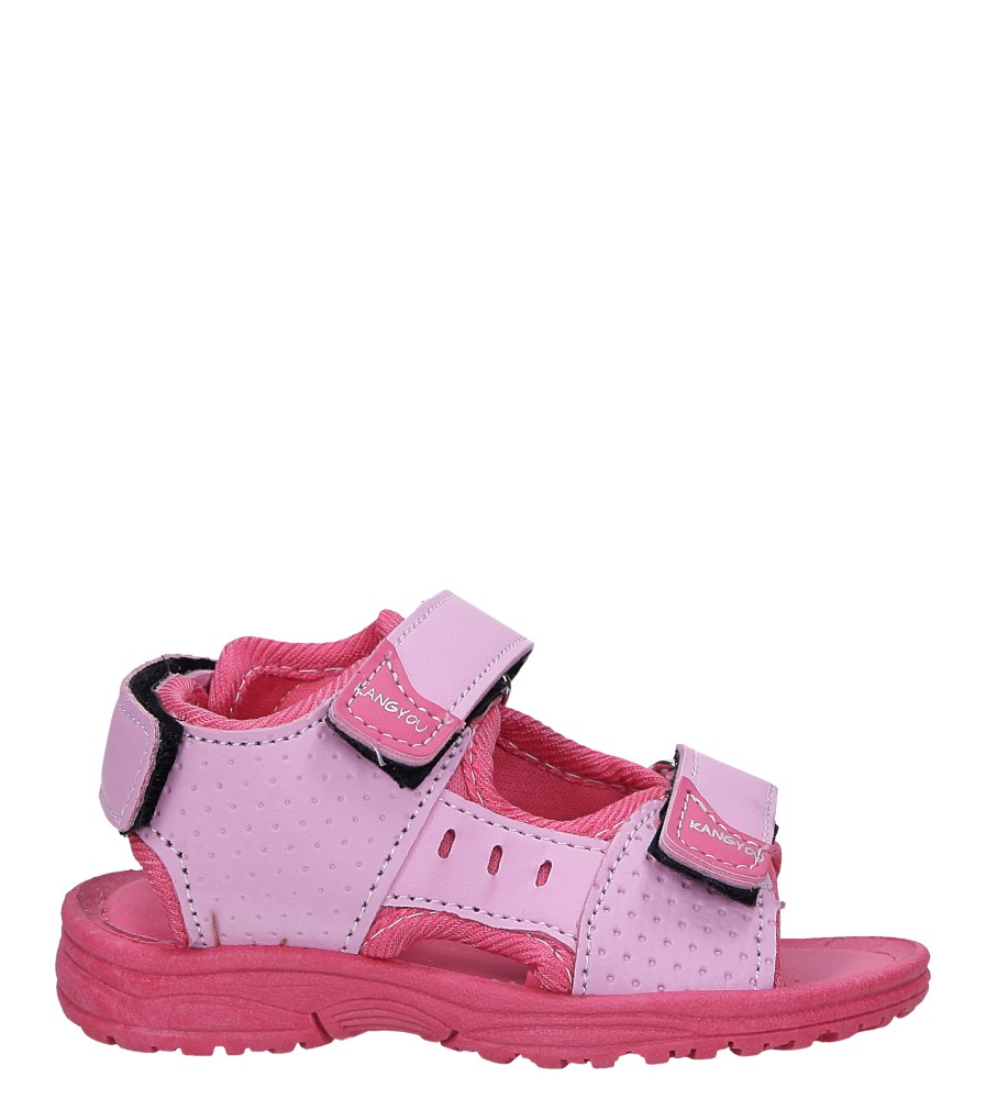 Różowe sandały na rzepy  Casu 90
