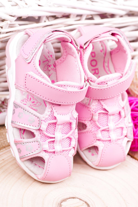 Różowe sandały na rzepy Casu LA117 producent Casu