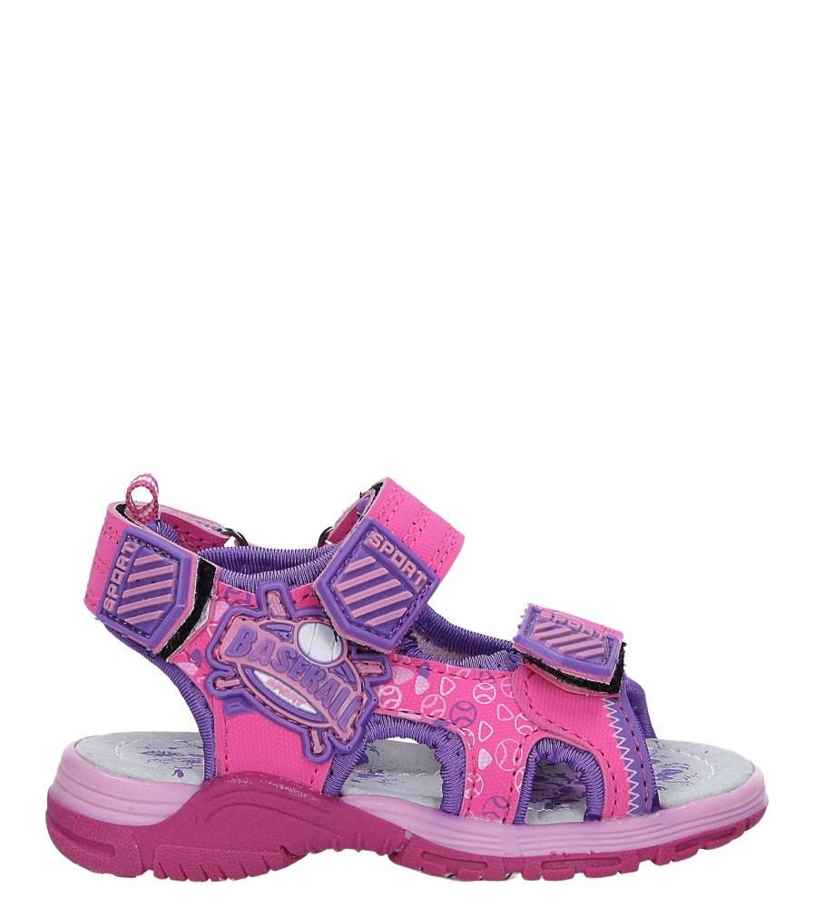 Różowe sandały na rzepy Casu LA80