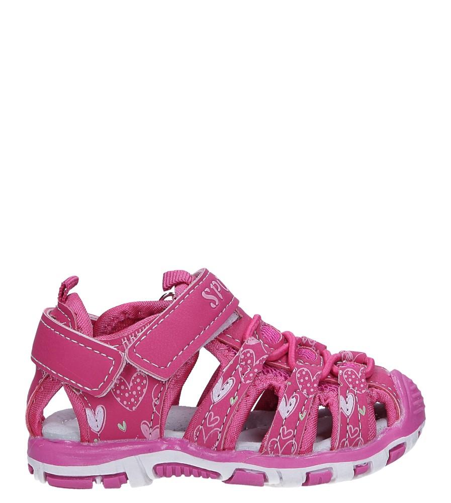 Różowe sandały na rzepy Casu LA92