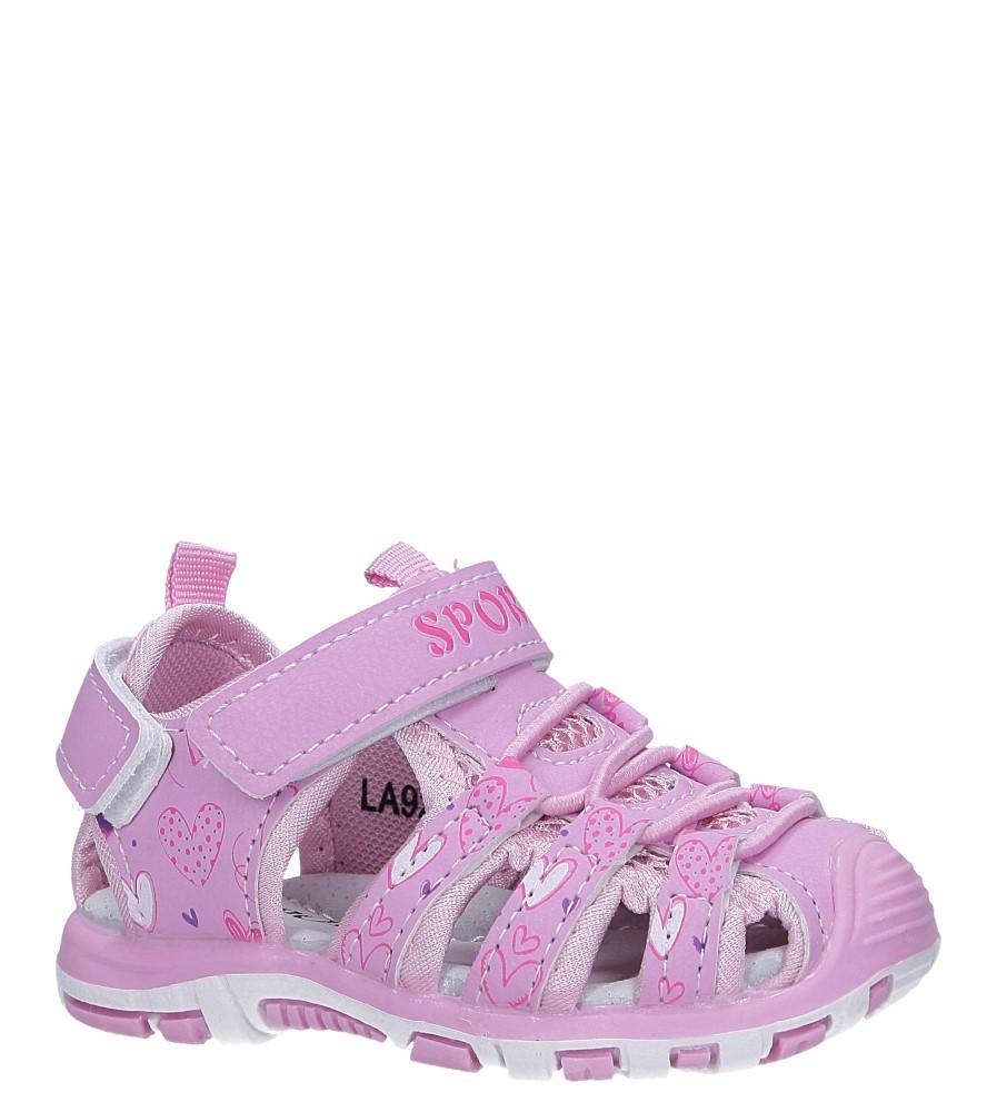 Różowe sandały na rzepy Casu LA92 producent Casu