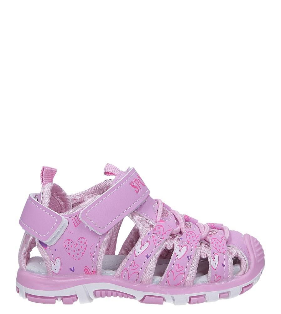 Różowe sandały na rzepy Casu LA92 model LA92