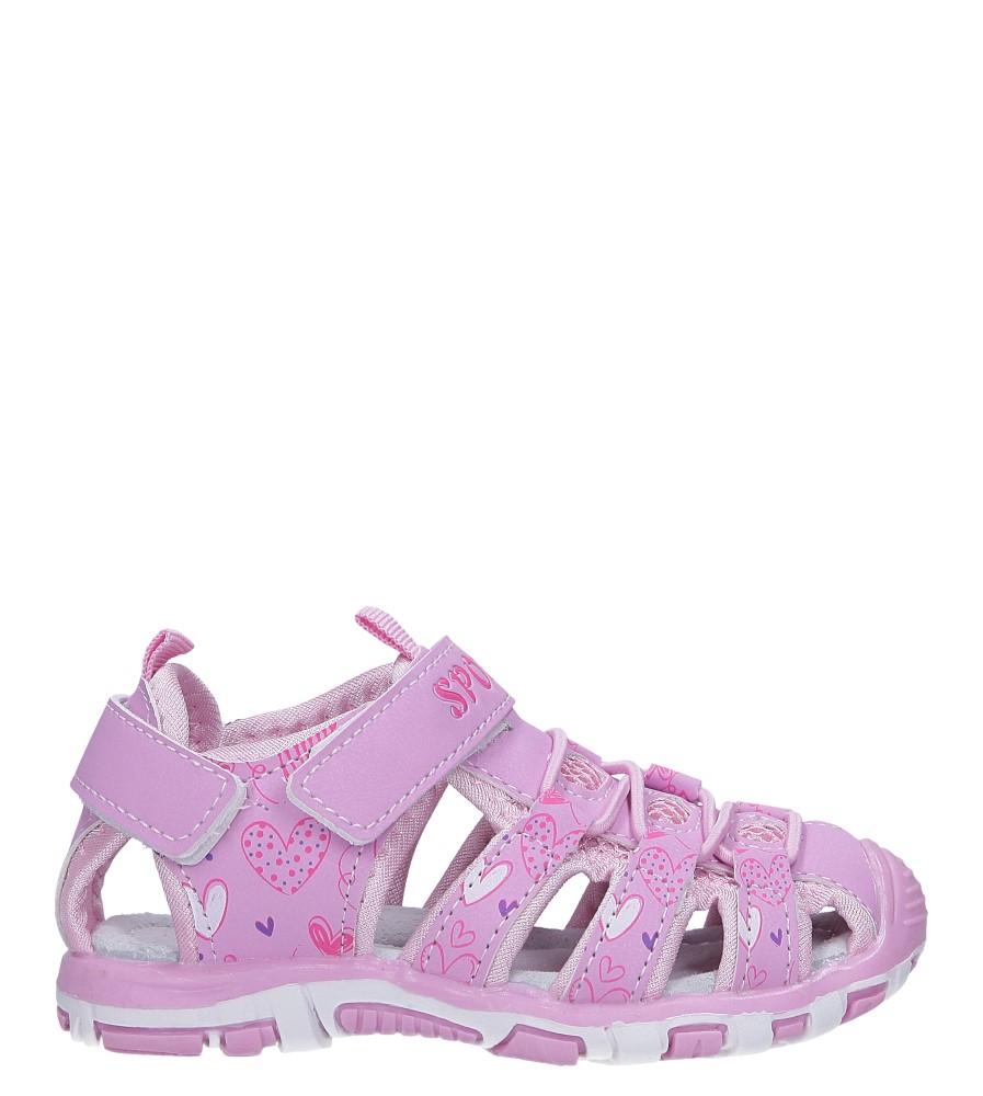 Różowe sandały na rzepy Casu LA93