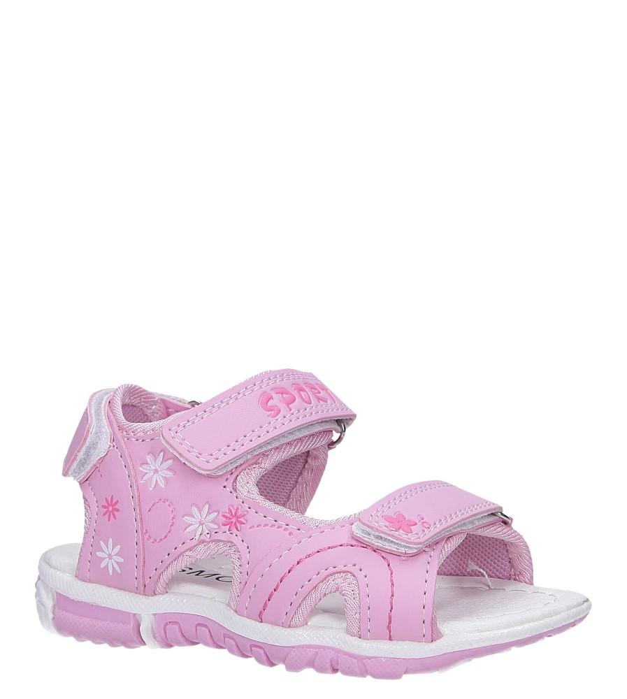 Różowe sandały na rzepy Casu Y109B
