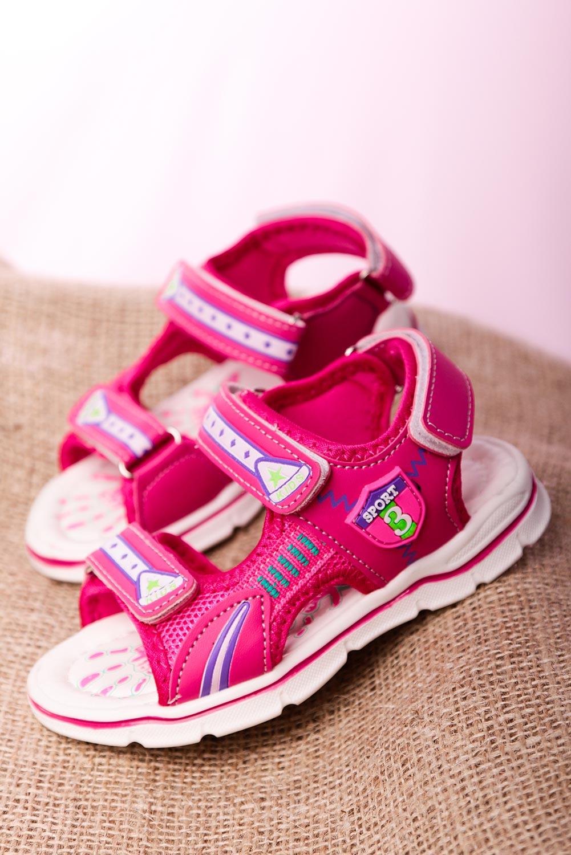 Różowe sandały na rzepy Casu YF-02B różowy