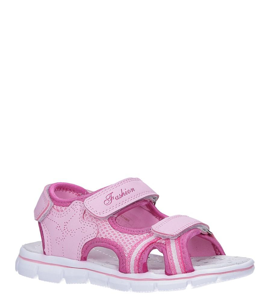 Różowe sandały na rzepy ze skórzaną wkładką Casu N824MR producent Casu