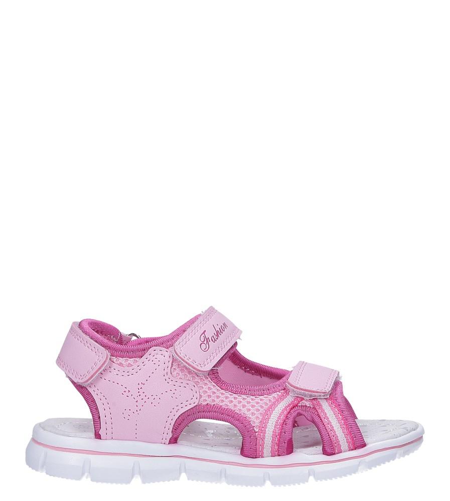 Różowe sandały na rzepy ze skórzaną wkładką Casu N824MR model N824MR