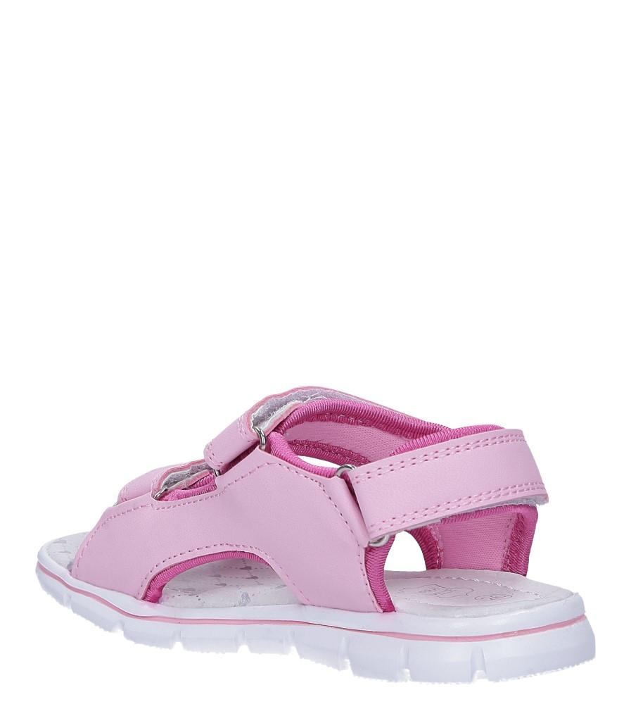 Różowe sandały na rzepy ze skórzaną wkładką Casu N824MR sezon Lato
