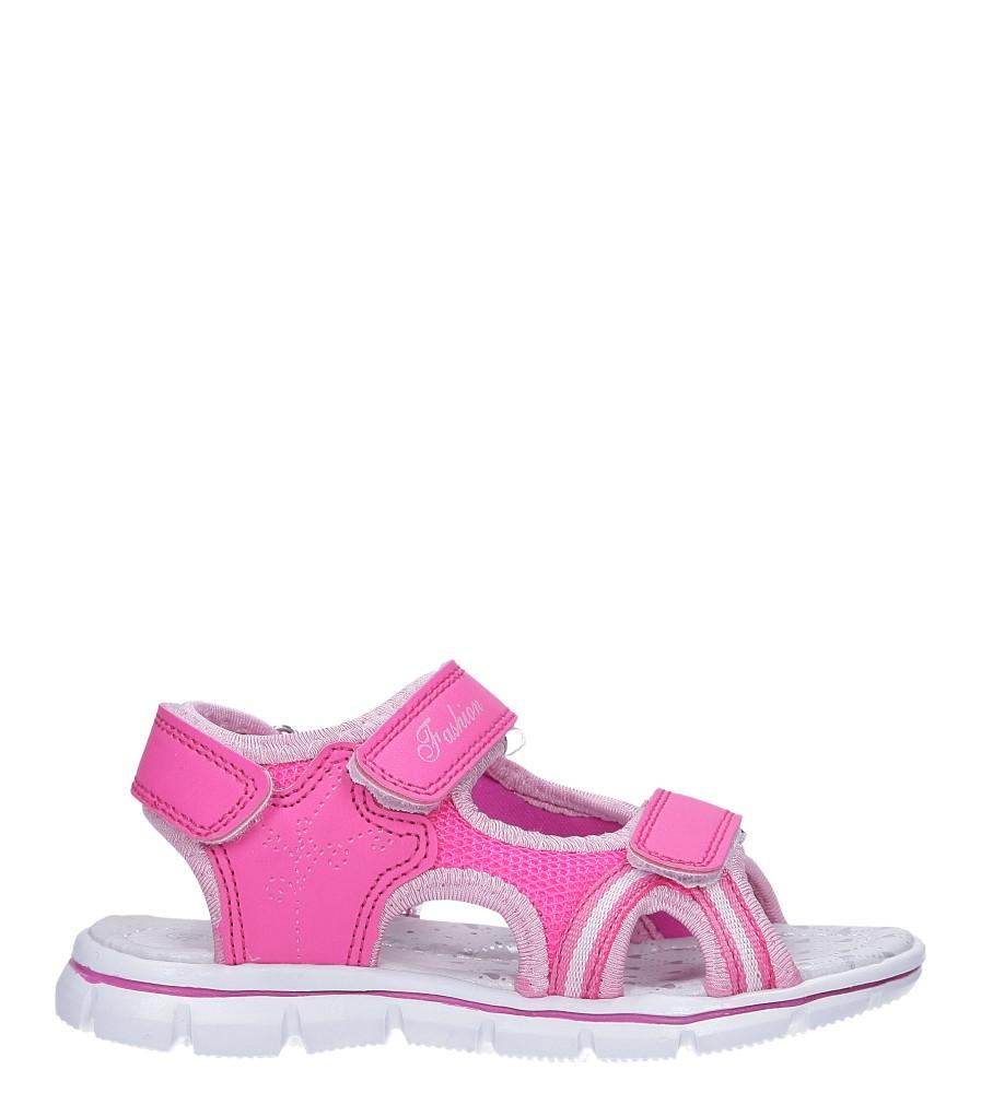 Różowe sandały na rzepy ze skórzaną wkładką Casu N824MR