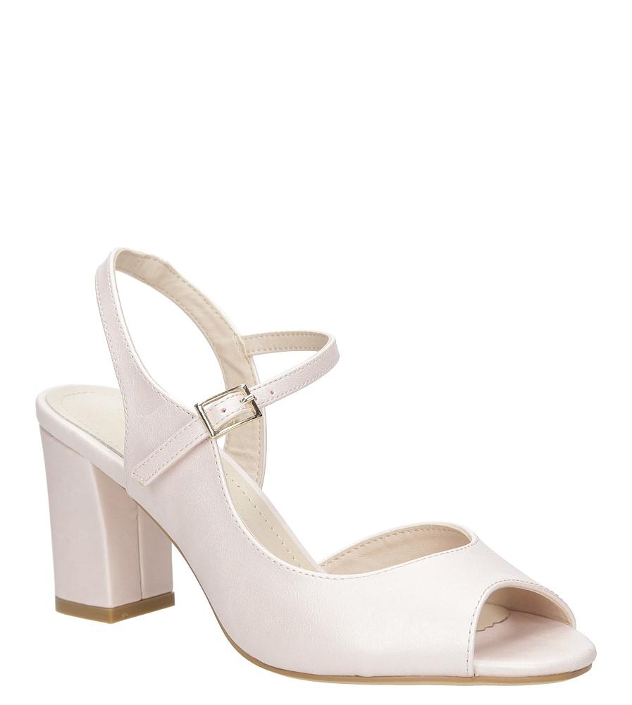 Różowe sandały na szerokim obcasie Sergio Leone SK808-14P różowy