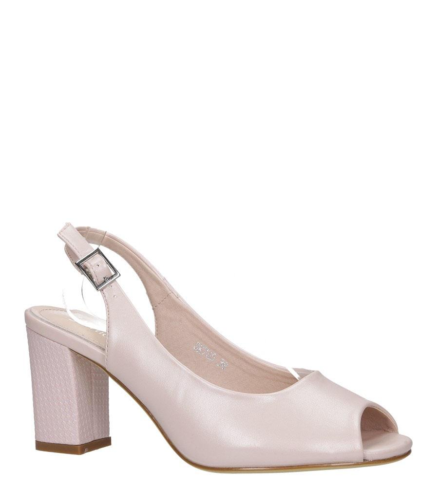 Różowe sandały perła peep toe na ozdobnym obcasie Sergio Leone SK765
