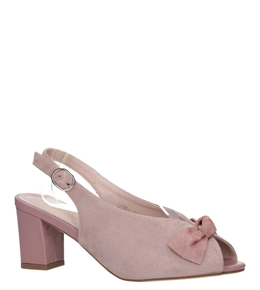 Różowe sandały peep toe z kokardką na słupku Sergio Leone SK801