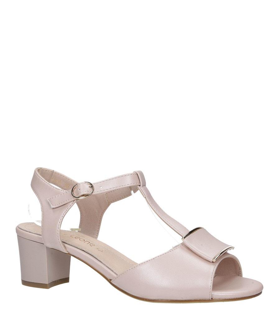 Różowe sandały perła na niskim obcasie Sergio Leone SK806
