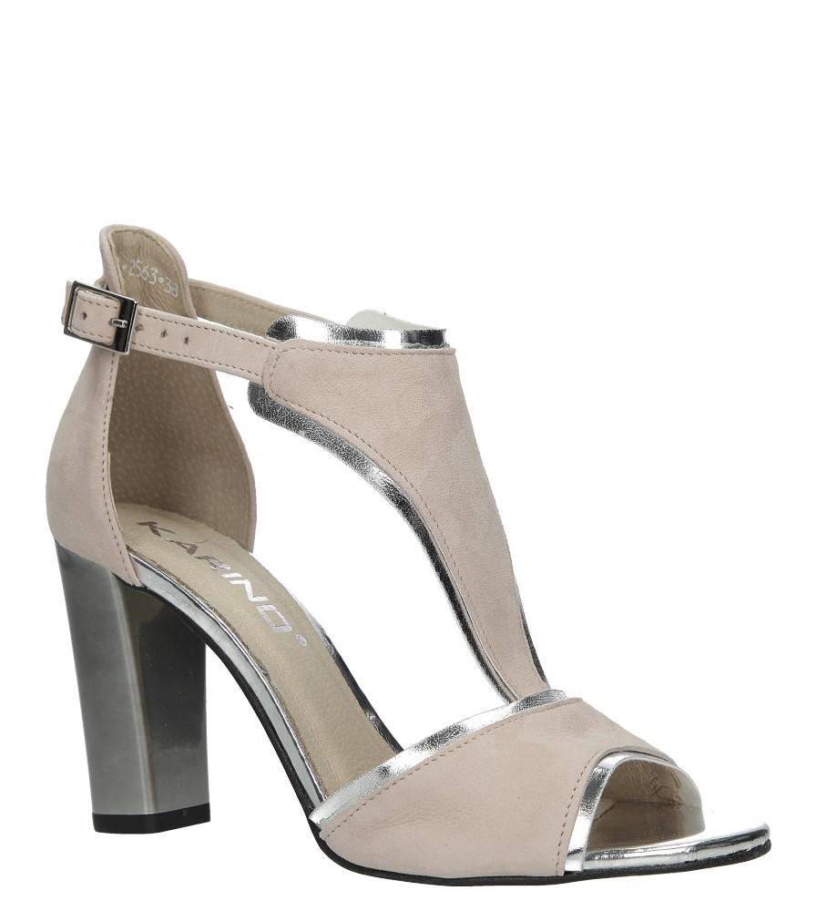 Różowe sandały skórzane zabudowane na słupku Karino 2563/071-P