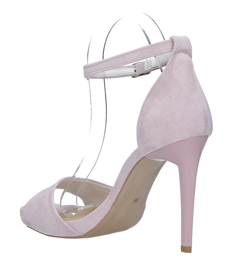 Różowe sandały szpilki z zakrytą piętą i paskiem wokół kostki Casu 1590/1 wys_calkowita_buta 19 cm