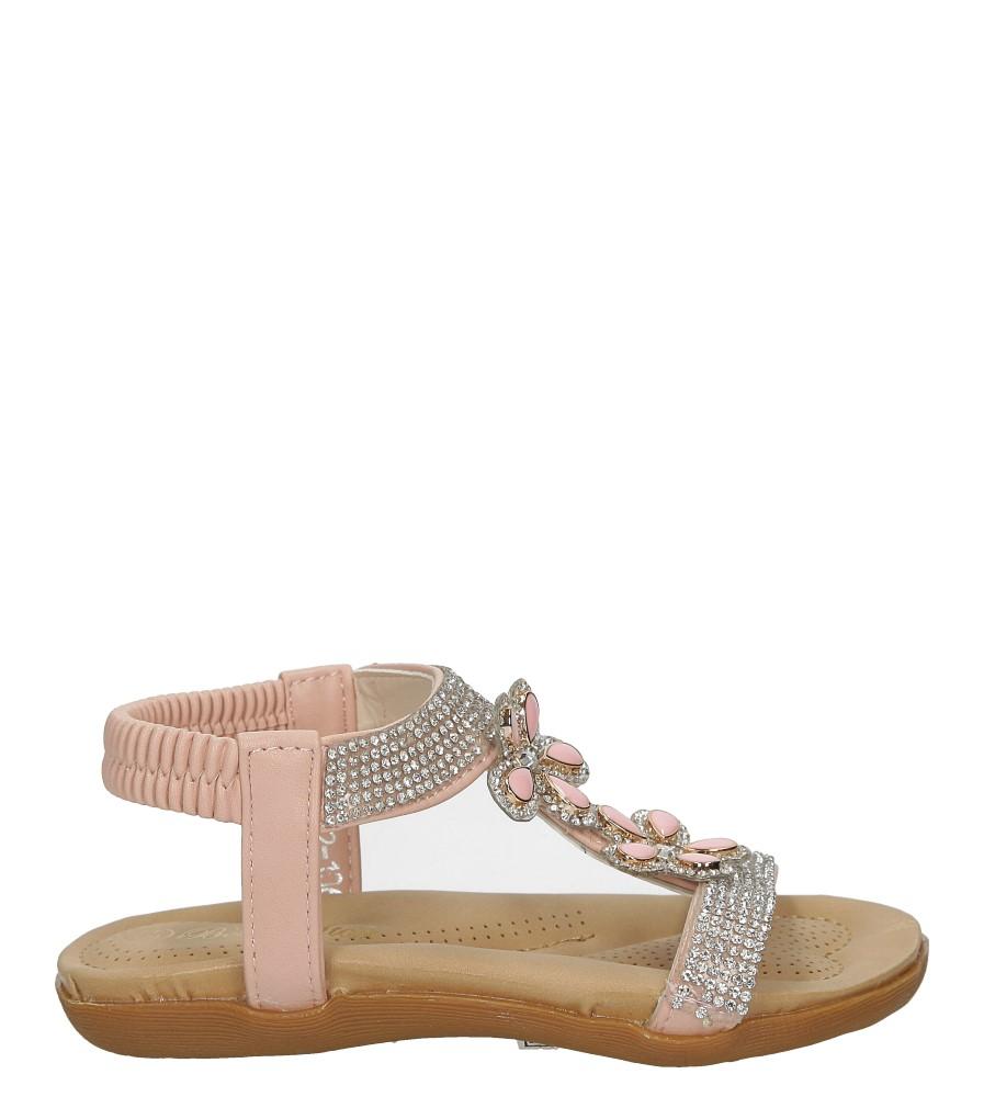 Różowe sandały z kryształkami Casu E22-106