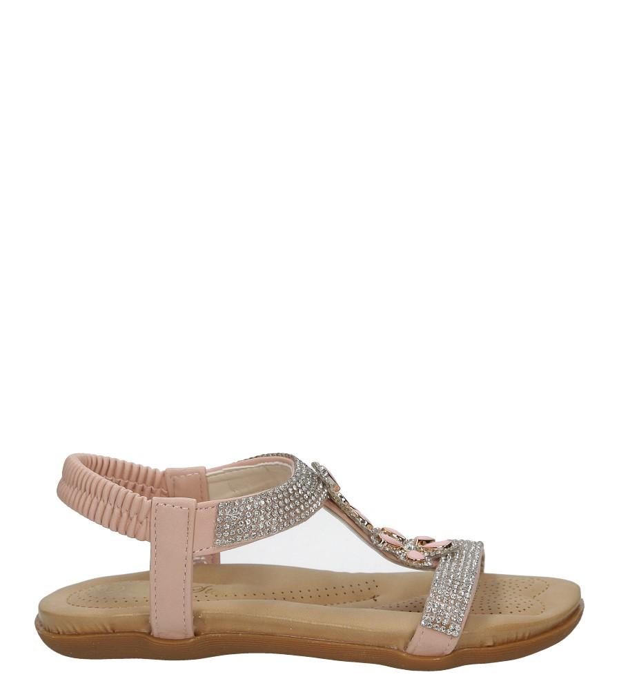 Różowe sandały z kryształkami Casu E22-107