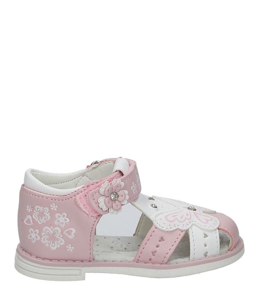 Różowe sandały z motylkiem na rzep Casu Z-289