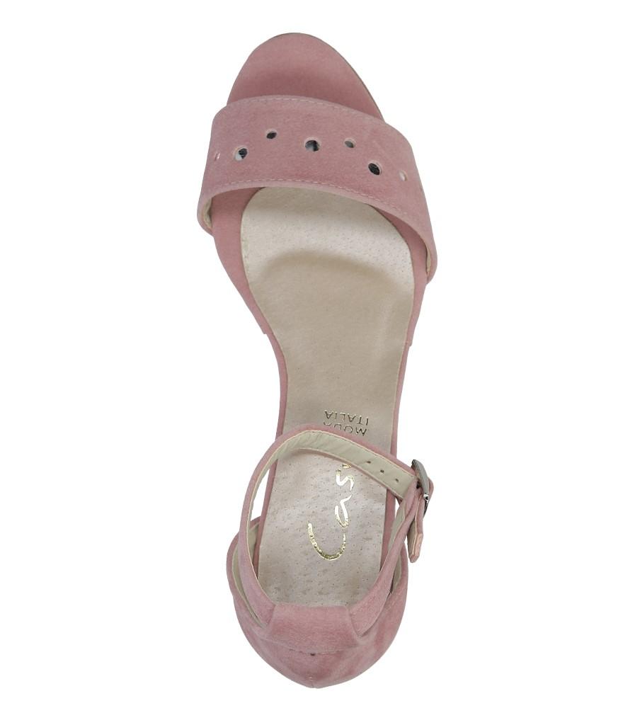 Różowe sandały z paskiem wokół kostki na niskim obcasie Casu 1973 wysokosc_obcasa 5.5 cm