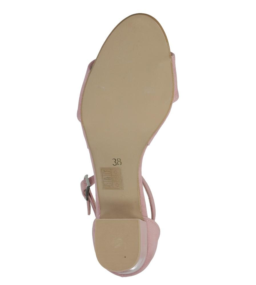 Różowe sandały z paskiem wokół kostki na niskim obcasie Casu 1973 wysokosc_platformy 0.5 cm
