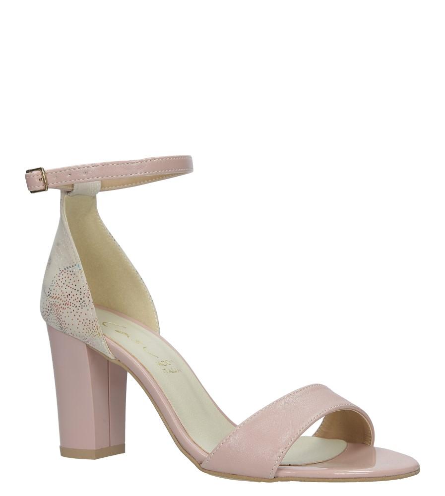 Różowe sandały z paskiem wokół kostki na słupku Casu 3093 producent Casu
