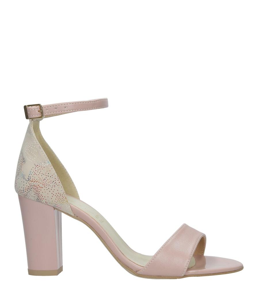 Różowe sandały z paskiem wokół kostki na słupku Casu 3093 sezon Lato