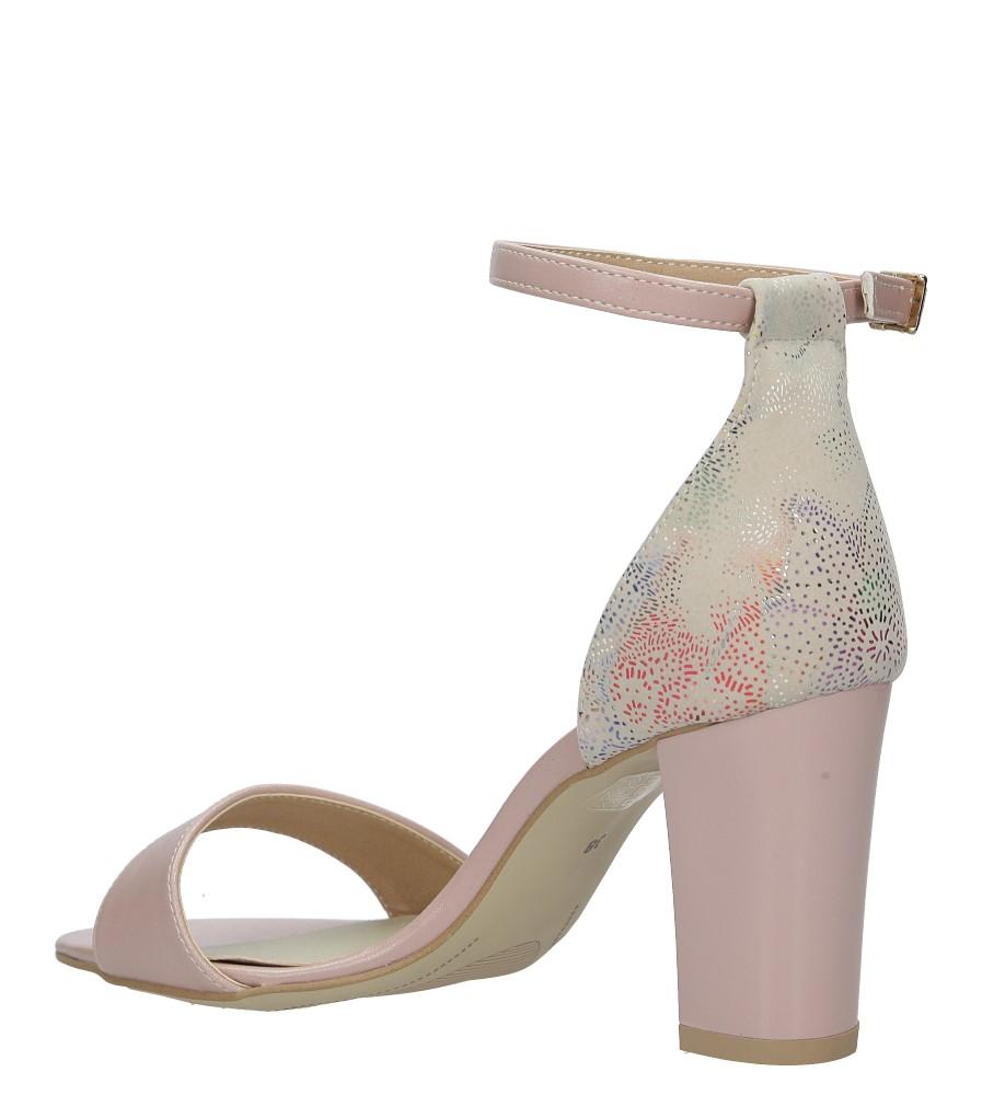 Różowe sandały z paskiem wokół kostki na słupku Casu 3093 kolor różowy