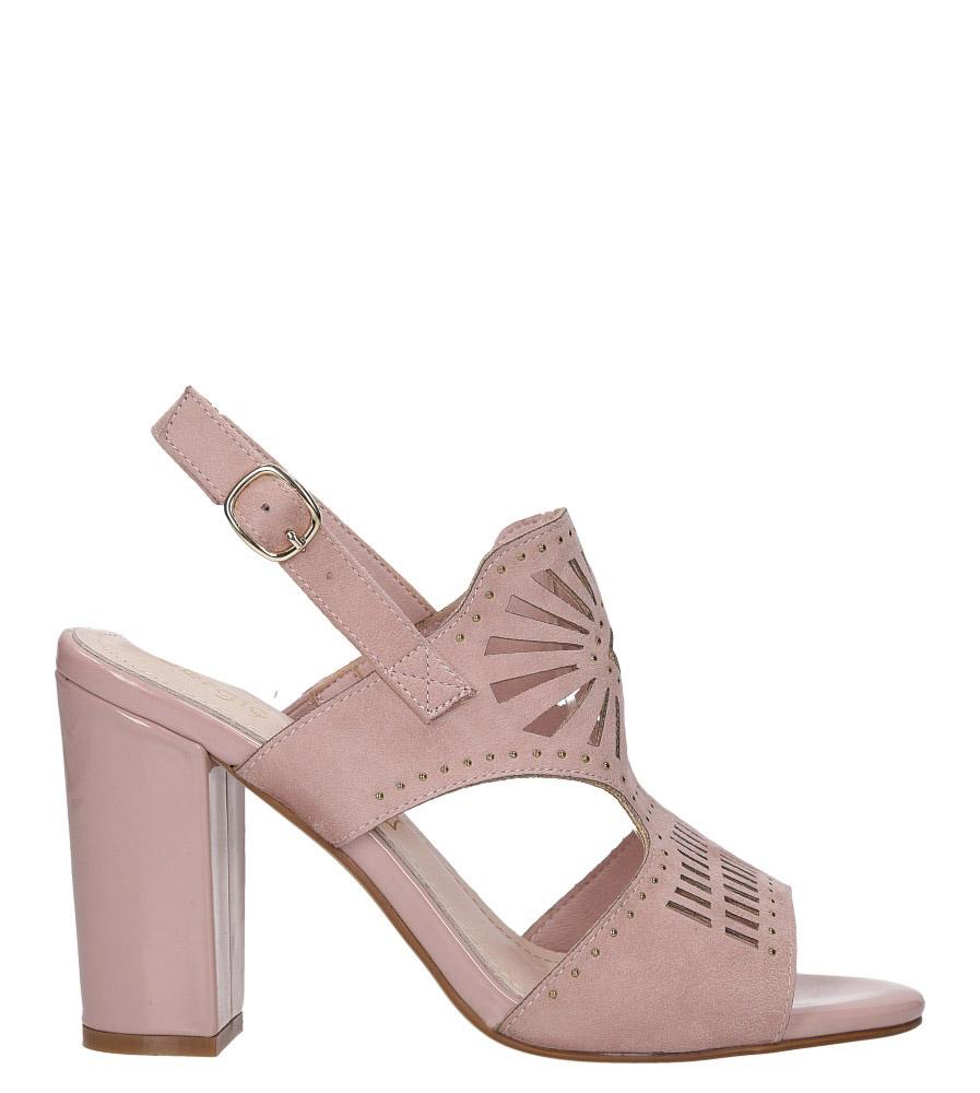 Różowe sandały zabudowane z nitami ażurowe na słupku Sergio Leone SK852 wysokosc_obcasa 10.5 cm